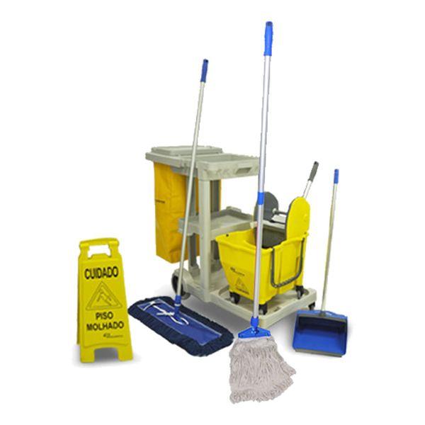 Kit Funcional para Limpeza de Pisos Frios em Geral Bralimpia