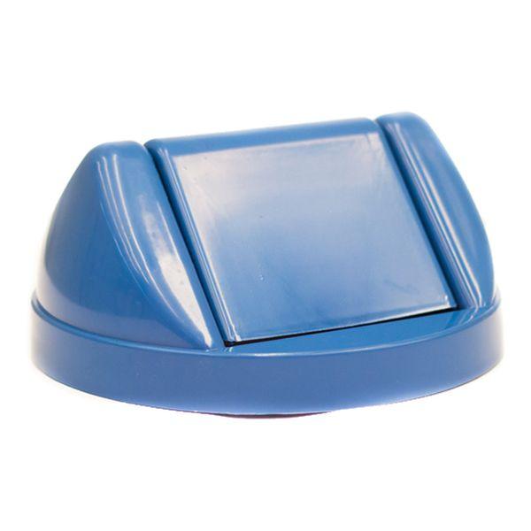 Tampa Basculante Frontal para Lixeira de 50 Litros Azul Bralimpia