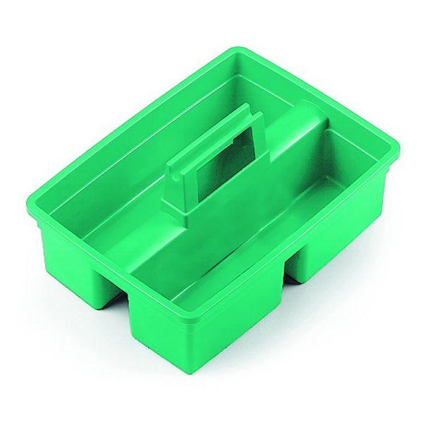 Cesta multiuso pequena verde com duas divisões 28X35X25cm TTS