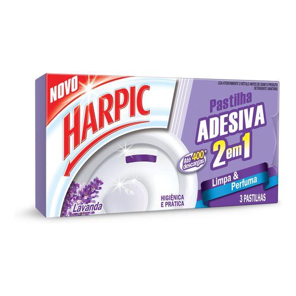 Pastilha Sanitária Adesiva Harpic Lavanda 2 em 1