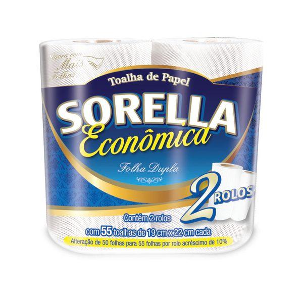 Papel Toalha Cozinha Sorella com 2 rolos com 50 folhas duplas
