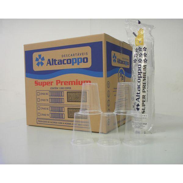 Copo Descartável para Água 440ml Transparente com 1.000 Unidades Altacoppo