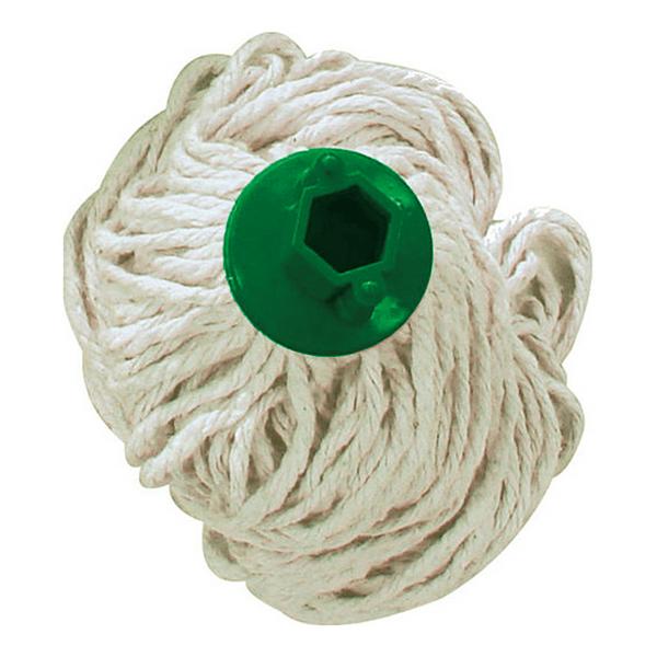 Refil Mopinho 30cm com Encaixe em Rosca Verde Bralimpia