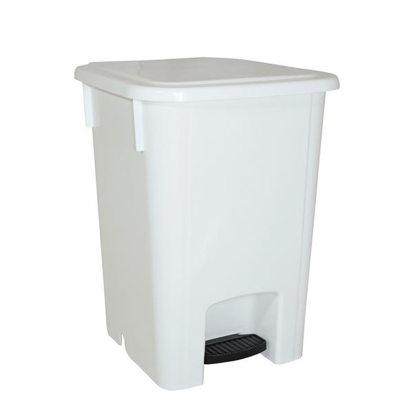 Cesto para Lixo com Pedal 15 Litros Branco Bralimpia