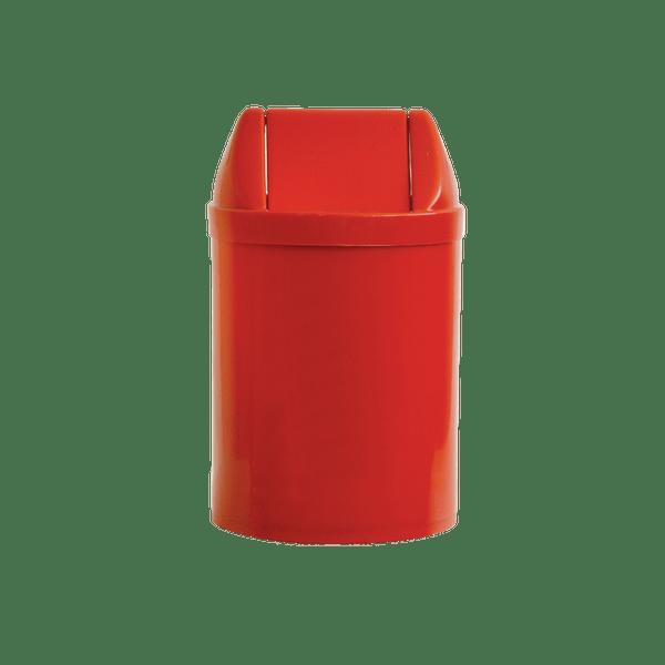 Cesto de Lixo com Tampa Basculante 14 Litros Vermelho Bralimpia