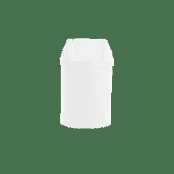 Cesto para Escritório com Tampa Basculante 14 Litros Branco Bralimpia