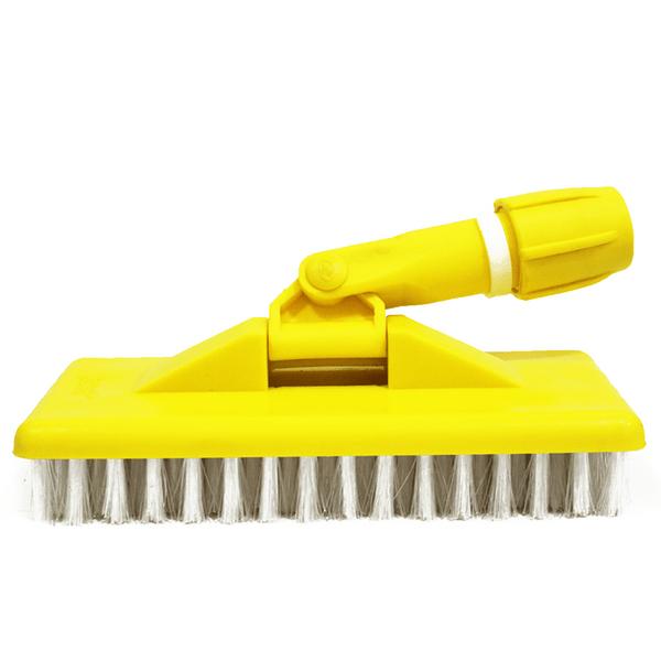 Suporte Limpa Tudo Escova Macia Amarelo Bralimpia