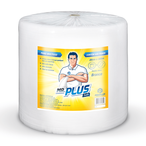 Pano Limpeza Leve 35grs 28x300 Branco Proplus