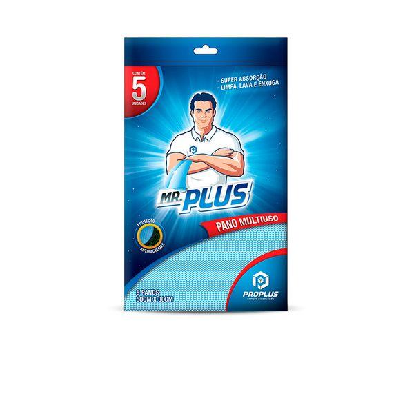 Pano Multiuso 40g Pacote C/ 05 Unids Azul Talge