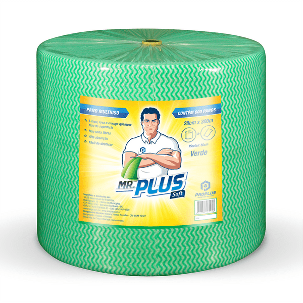 Pano Limpeza Leve 35grs 28x300 Verde Proplus