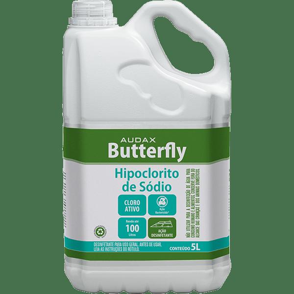 Cloro (Hipoclorito de Sódio) 5 Litros Audax Butterfly