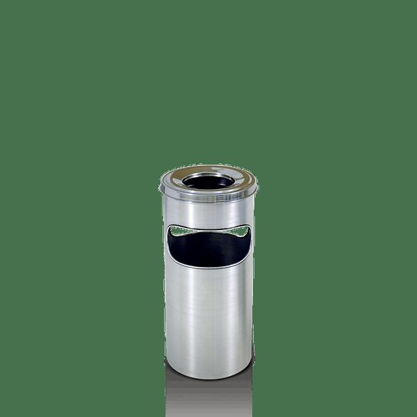Cinzeiro Papeleira de Alumínio com Aro Inox Artplan