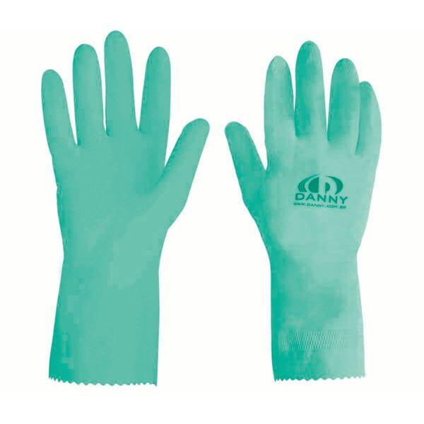 Luva de Látex Forrada Verde Maxi Danny-253