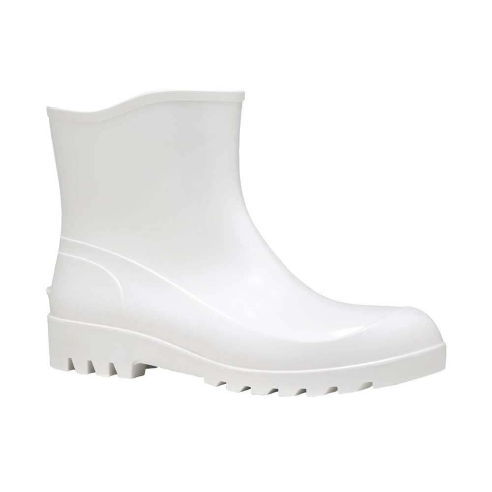 c3fae8371a6 Bota de PVC Branca Cano Extra Curto Fujiwara - Net Suprimentos