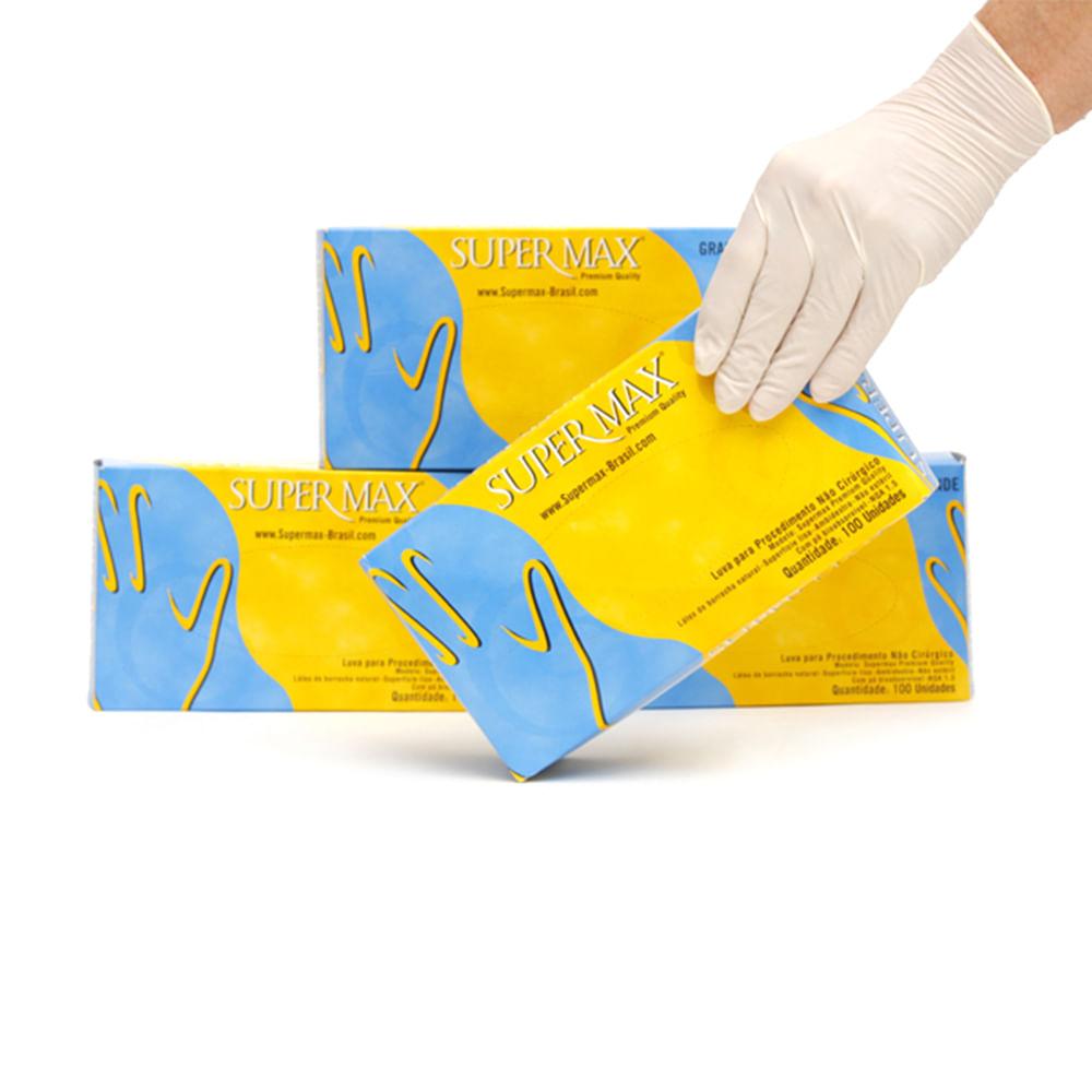 2127914109c90 Luva de Látex Descartável caixa Supermax - Net Suprimentos