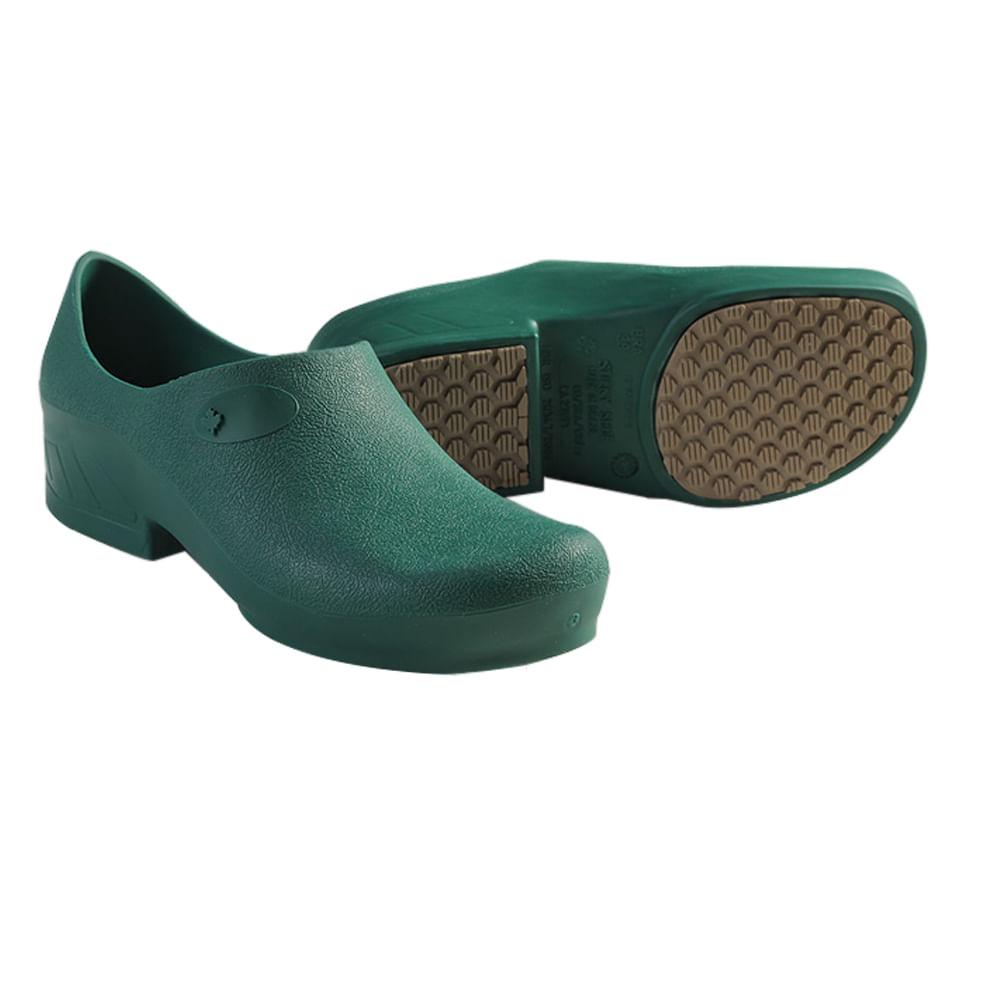 a67e444ba Sapato Ocupacional Antiderrapante Tradicional Woman Verde Escuro ...