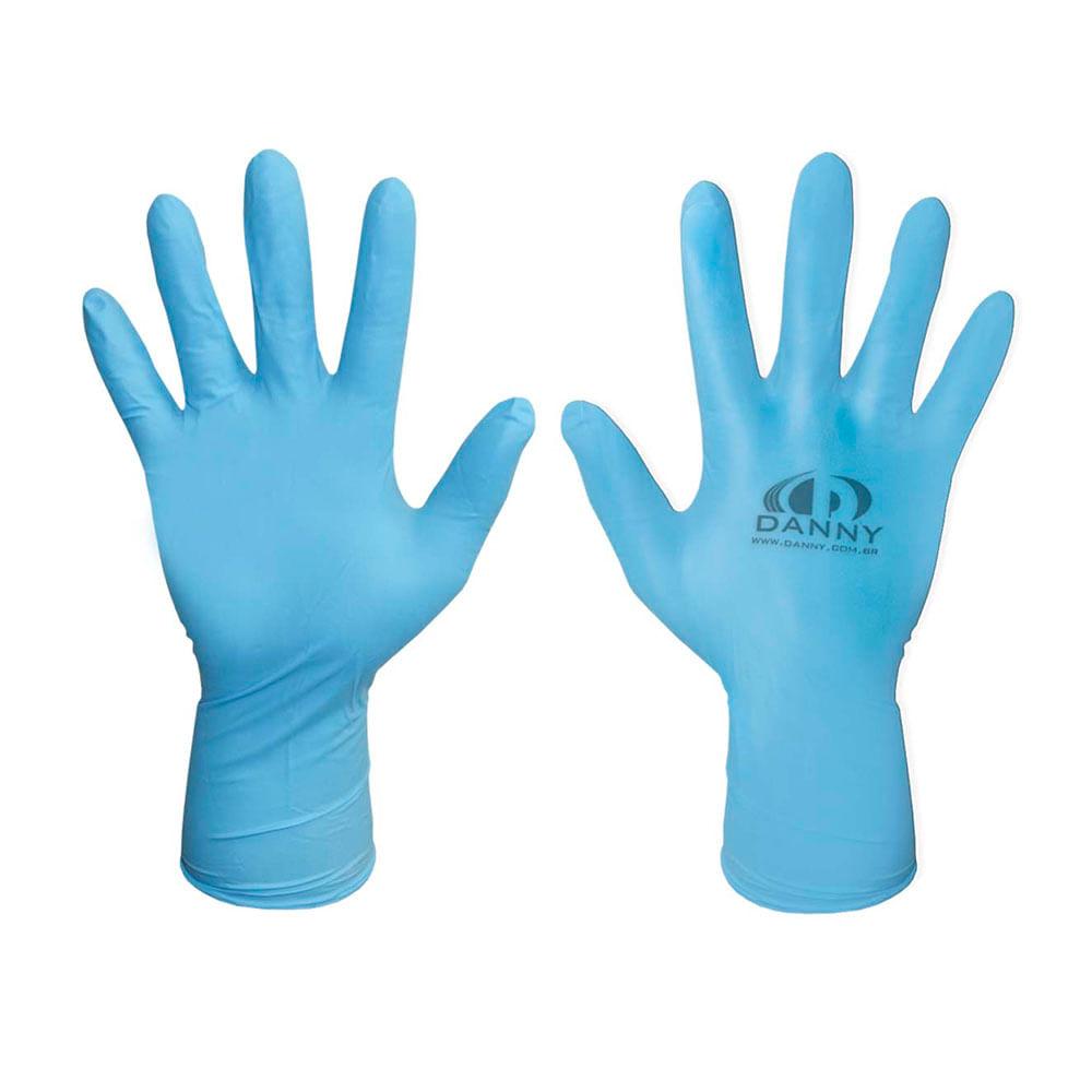 6f96ca3115c64 Luva Nitrílica Descartável Sensiflex Azul Royal Danny - Net Suprimentos