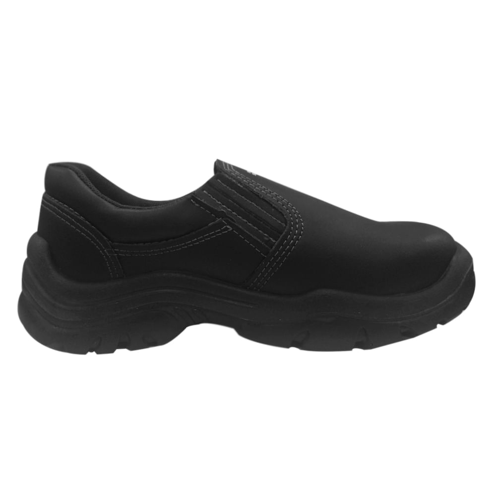 Sapato De Microfibra Preto Fechamento Em El Stico Fujiwara Net