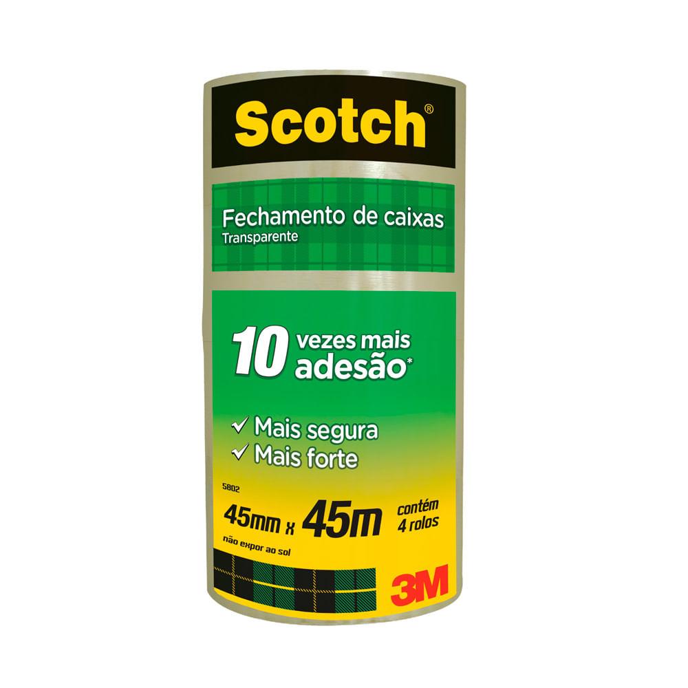 88c2facd9df Fita de Empacotamento Scoth Hot Melt Transparente 45mm X 45m 1 Unidade 3M -  Net Suprimentos