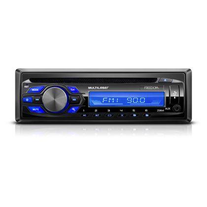 Som Automotivo MP3 Player Multilser Freedom Radio CD USB 4X25W - P3239