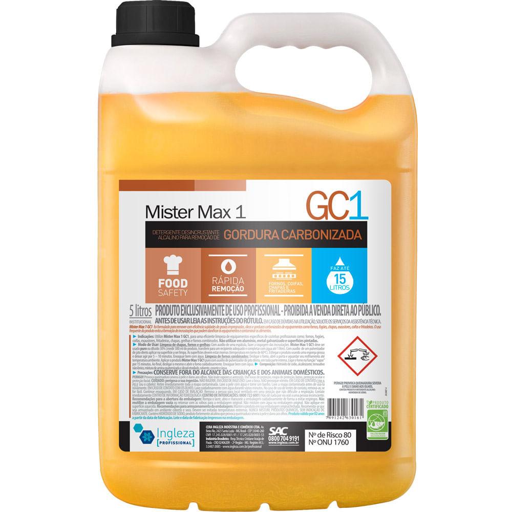 Detergente Desincrustante Mr Max1 5 Litros Ingleza Net Suprimentos