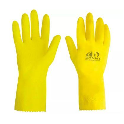 Luva de Látex Antiderrapante MAXI Amarela Danny
