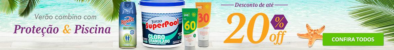 Verão combina com Proteção e Piscina - Desconto de até 20%