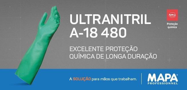 Luva Ultranitril A-18 480 - Excelente Proteção Química Longa Duração