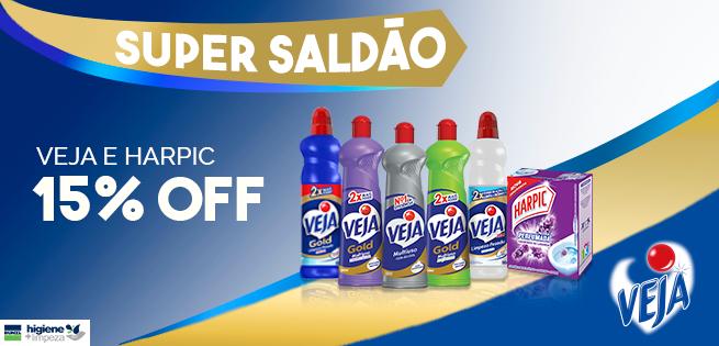 Super Saldão - Veja e Harpic com 15% OFF