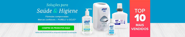 Soluções para Saúde e Higiene - Gojo e Purell
