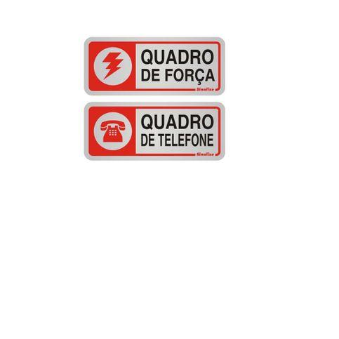 6d5ca2b4c653c PLACA AUTO-ADESIVA ALUMÍNIO QUADRO DE FORÇA   TELEFONE 12X12CM ...