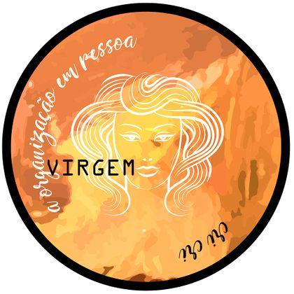 Tecido Adesivo Flok Quadro 25Cm Zodiaco Virgem