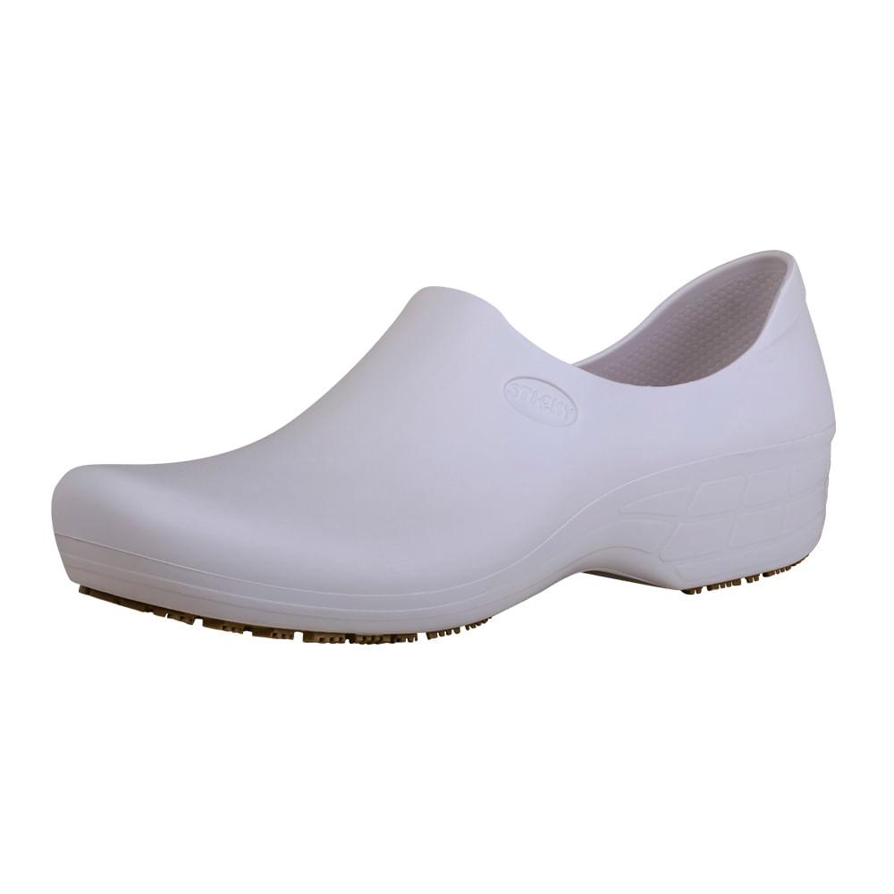 993388769 Sapato Ocupacional Antiderrapante Tradicional Woman Branco Sticky ...