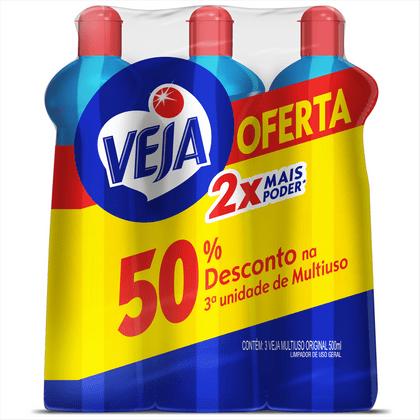 470011-Veja-Limpador-Multiuso-Orginal-500ml-3-unidades-com-50-off-na-3ª